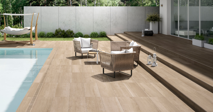 Carrelage terrasse aspect bois good une terrasse en for Carrelage aspect bois