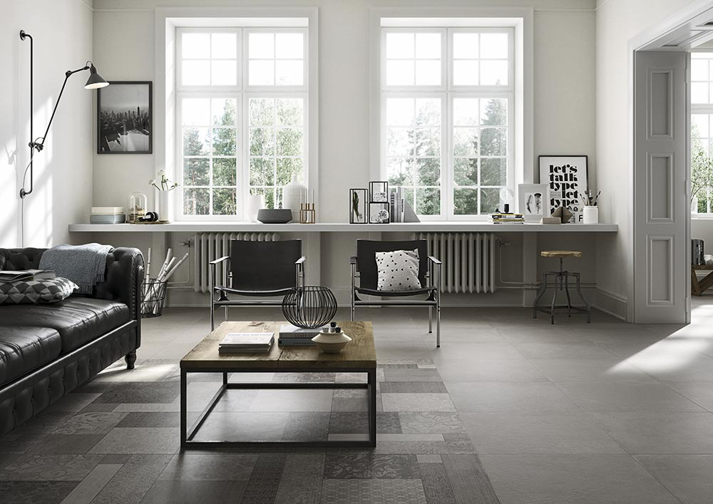 Carrelage interieur salon