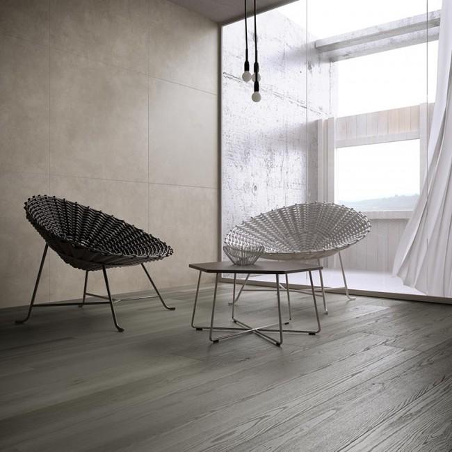 Carrelage intérieur salon imitation parquet