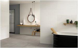 Salle de bain en carrelage grès cérame au Crès, Les Carrelages par Cimenterie de la Tour