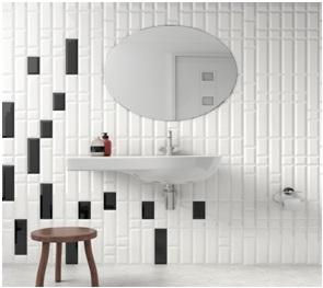 Salle de bain en faïences Carreaux métro à Jacou, Les Carrelages par Cimenterie de la Tour