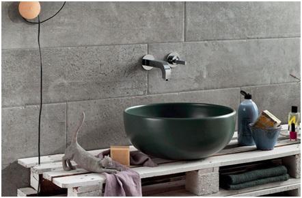 Salle de bain Carrelage effet pierre à Pignan, Les Carrelages de la Tour