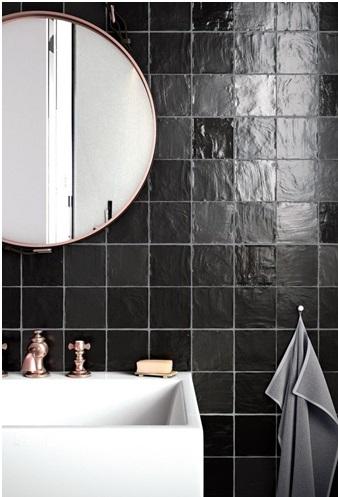 Salle de bain en carrelage effet zellige à Fabrègues par Les Carrelages de la Tour