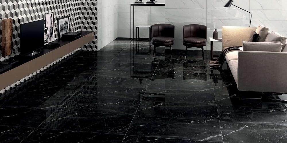 carrelage marbre noir à montpellier, Les Carrelages de la Tour