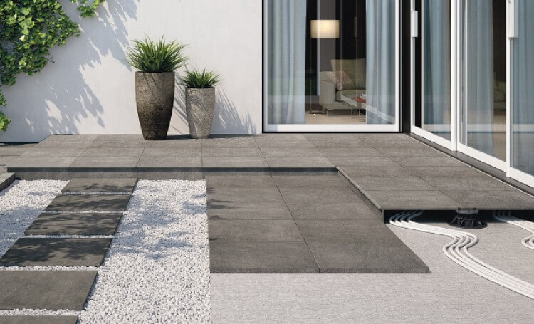 carrelage beton gris terrasse a saint aunes