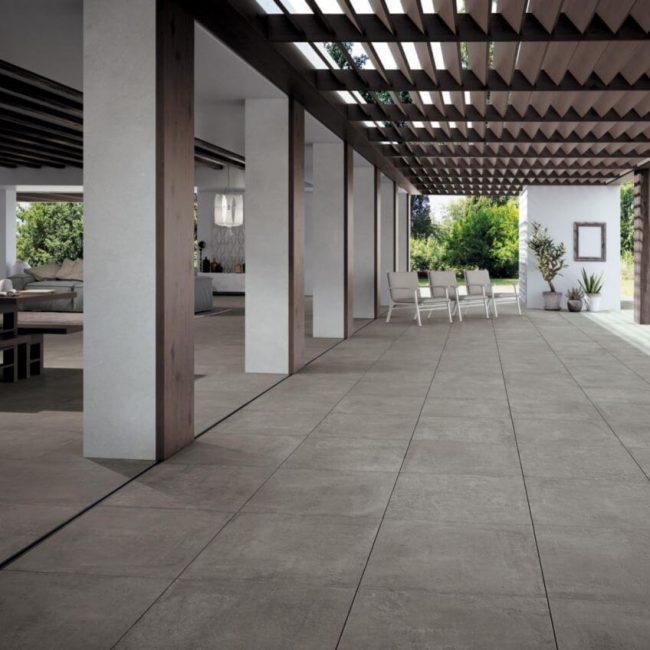 carrelage beton terrasse a la grande motte