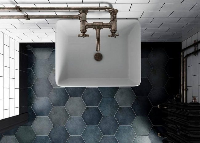 carrelage hexagonal carreaux ciment grabels