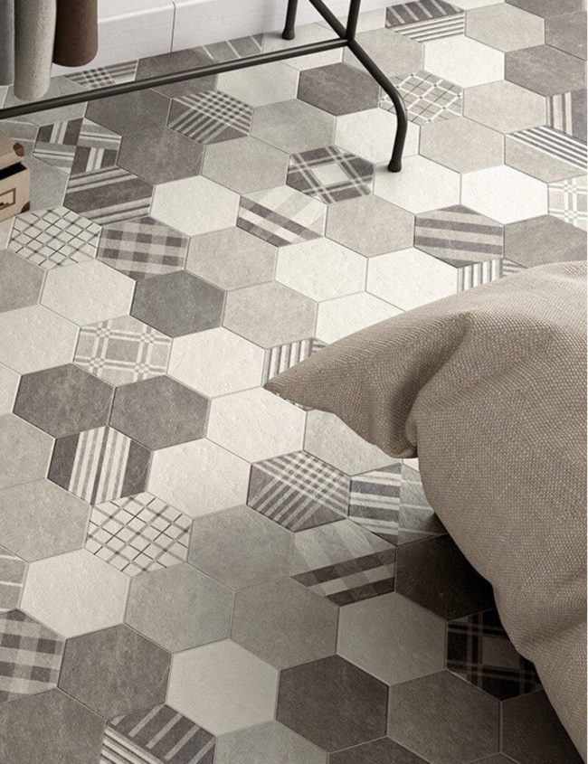 carrelage hexagonal moderne mauguio