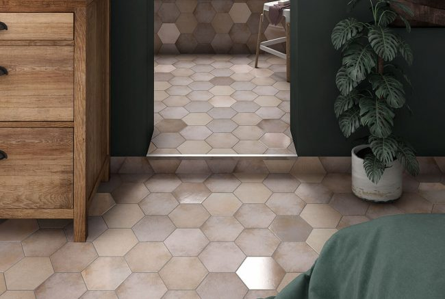 carrelage hexagone beige a grabels
