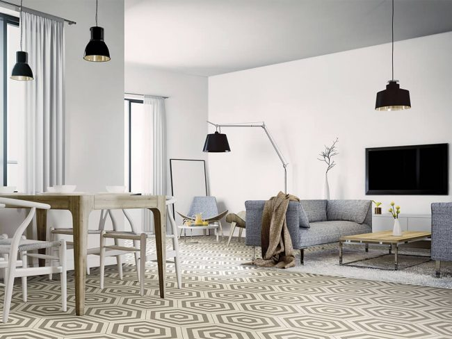 carrelage hexagone motif montpellier