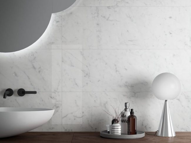 carrelage marbre blanc brillant montpellier