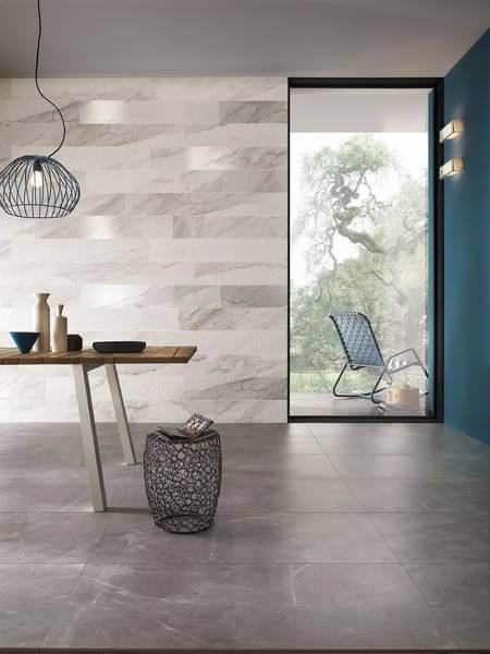 carrelage marbre gris