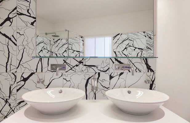 carrelage moderne marbre salle de bain pignan