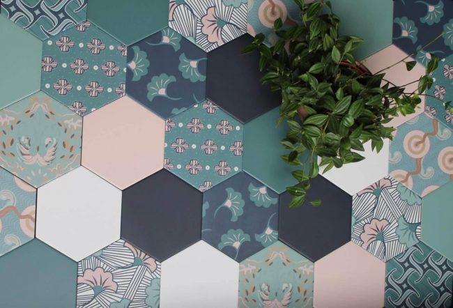 carrelage motif hexagone a carnon