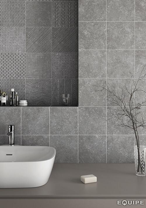 carrelage salle de bain granito gris a perols