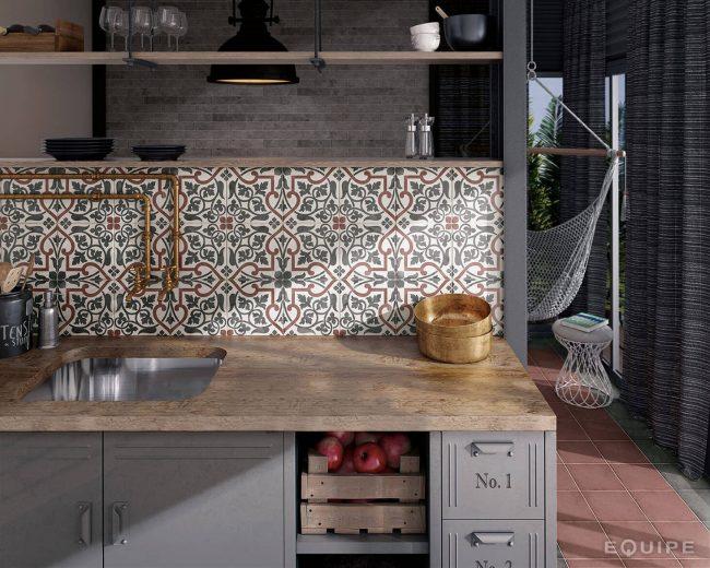 credence de cuisine imitation carreaux de ciment montpellier