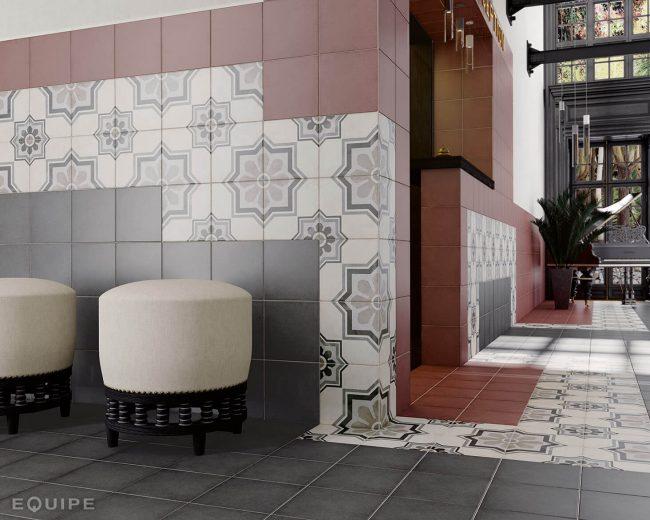 hall carrelage effet carreaux de ciment montpellier