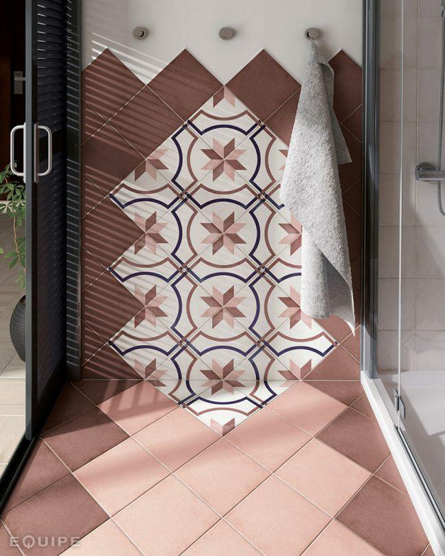salle de bain carrelage imitation carreaux de ciment montpellier