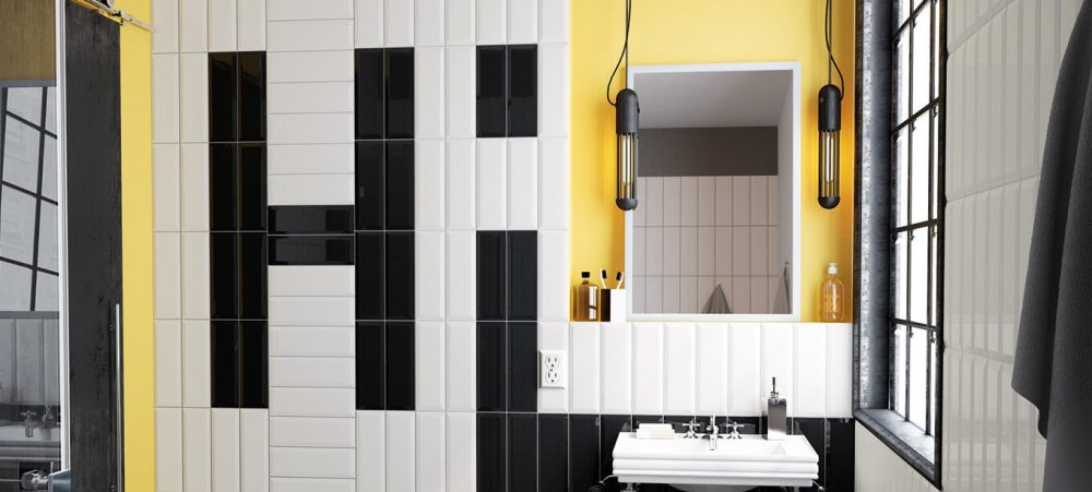 salle de bain moderne carreau metro pignan