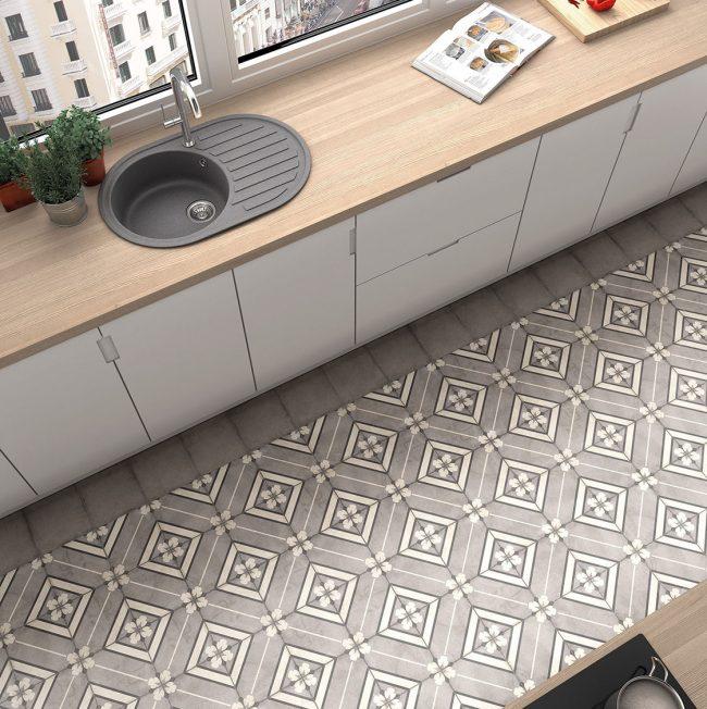 carrelage effet carreaux de ciment motifs traditionnels