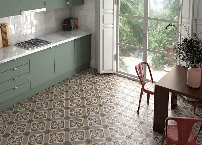 carrelage carreaux de ciment motifs traditionnels sol