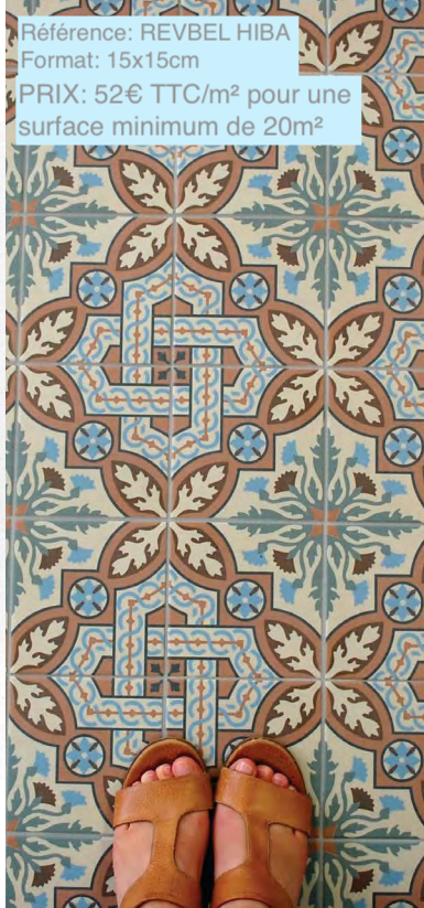 carrelage effet carreau de ciment motif traditionnel