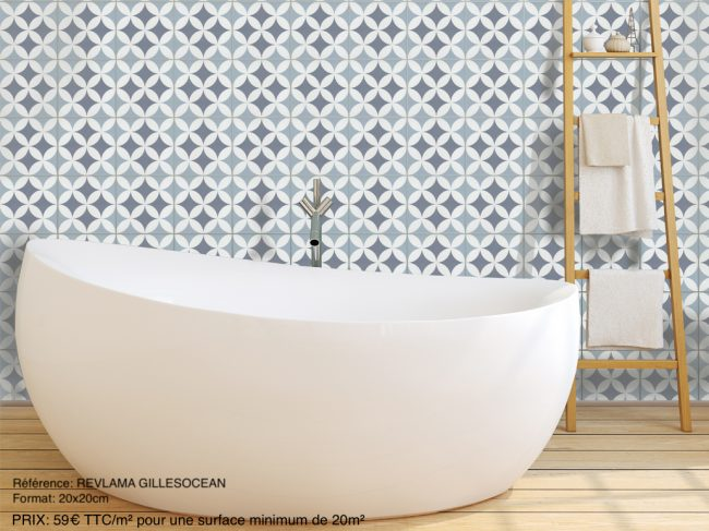 carrelage imitation carreau de ciment salle de bain