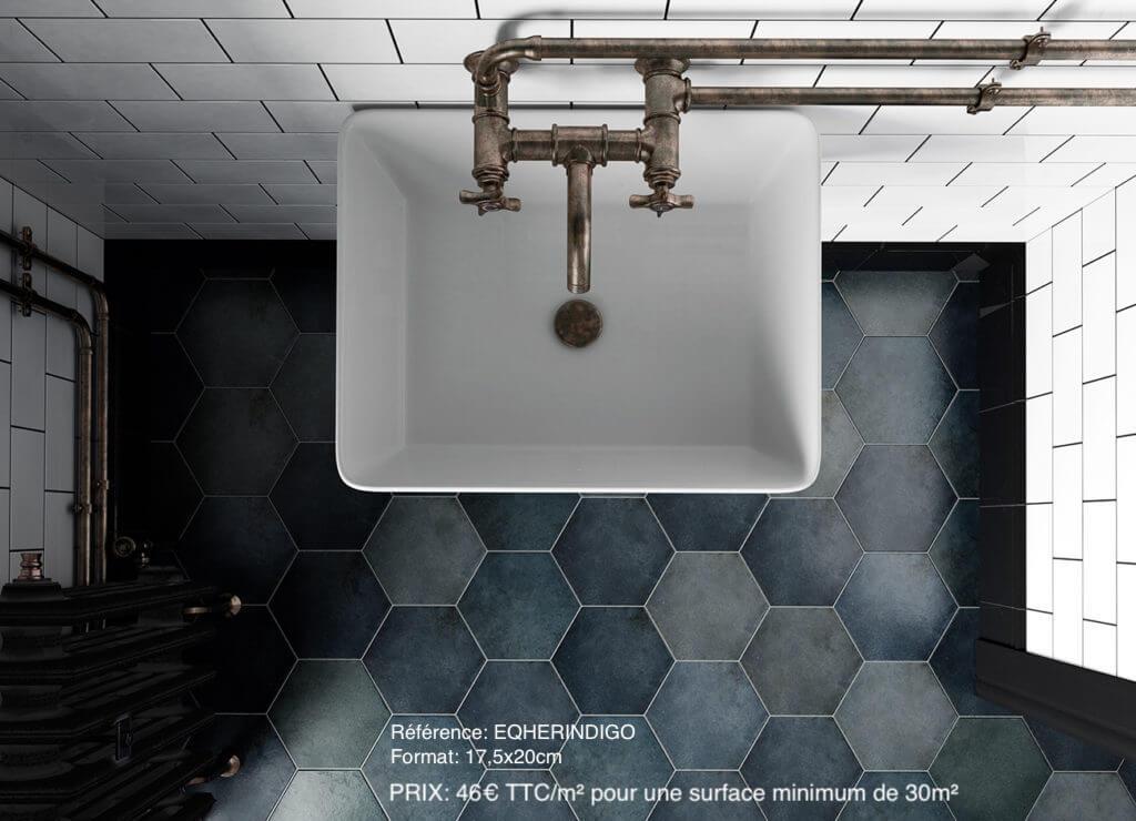carrelage moderne dans la salle de bain