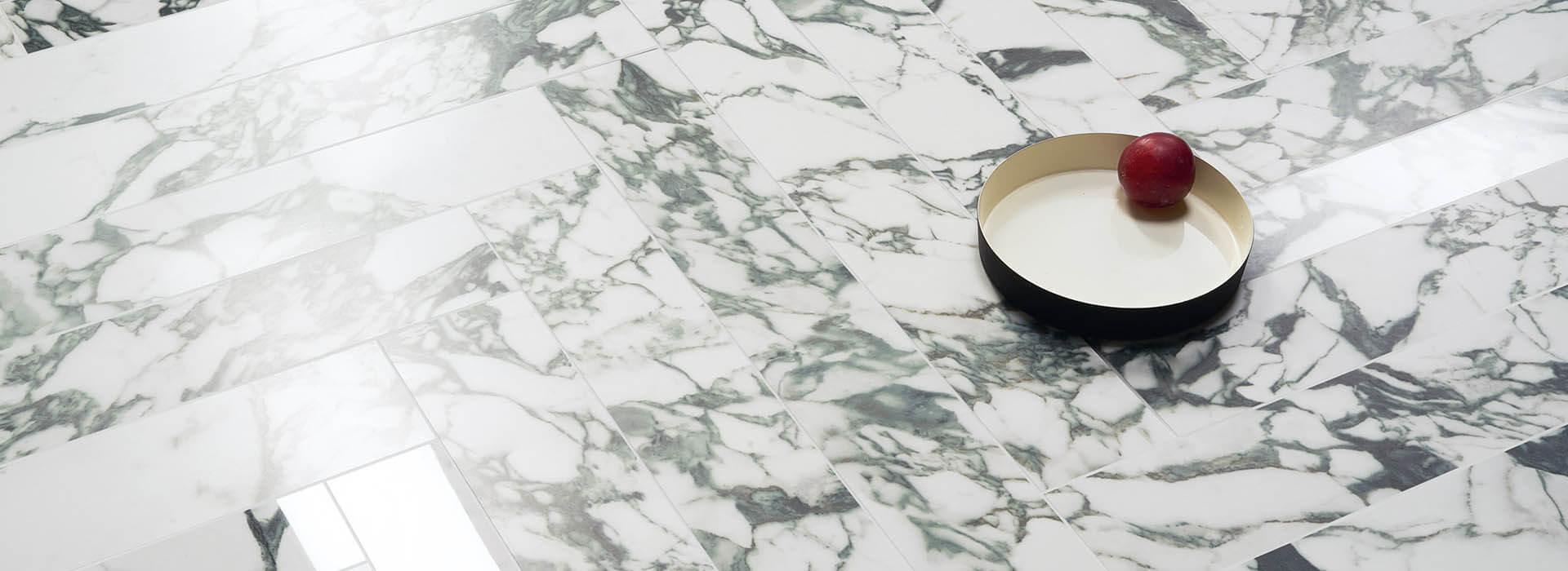carrelage effet marbre blanc