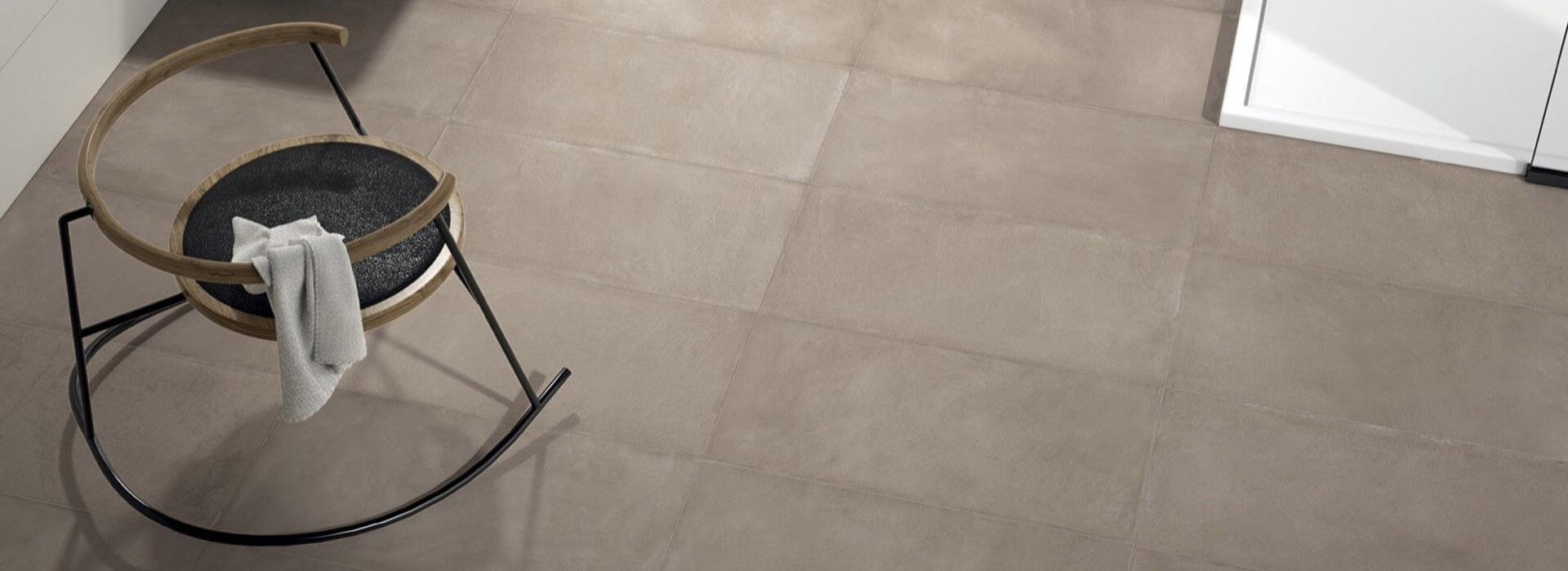 carrelage effet ciment spatulé