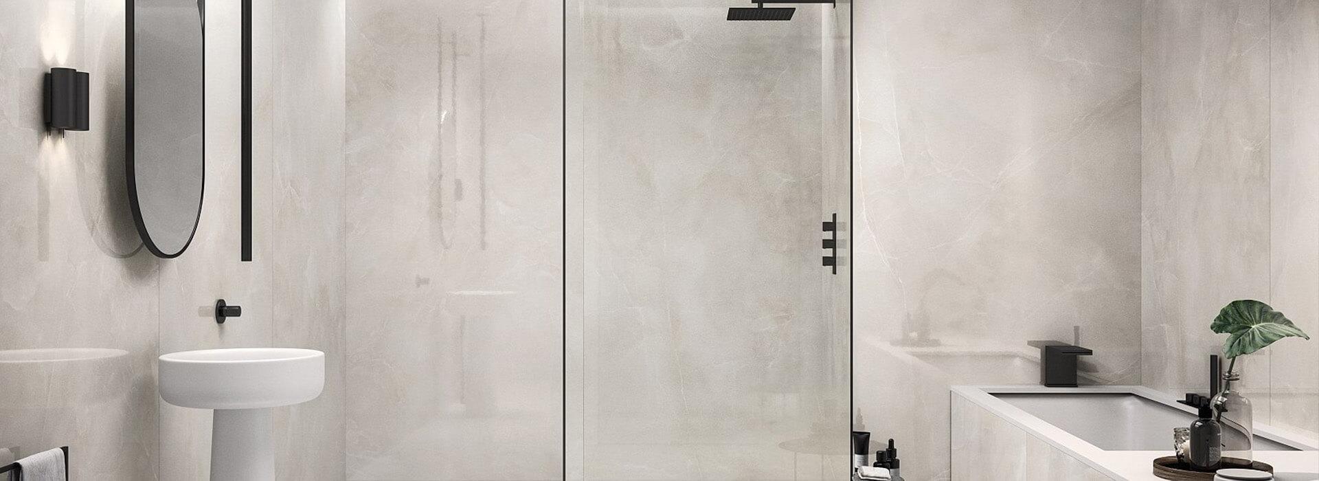 carrelage grand format salle de bain