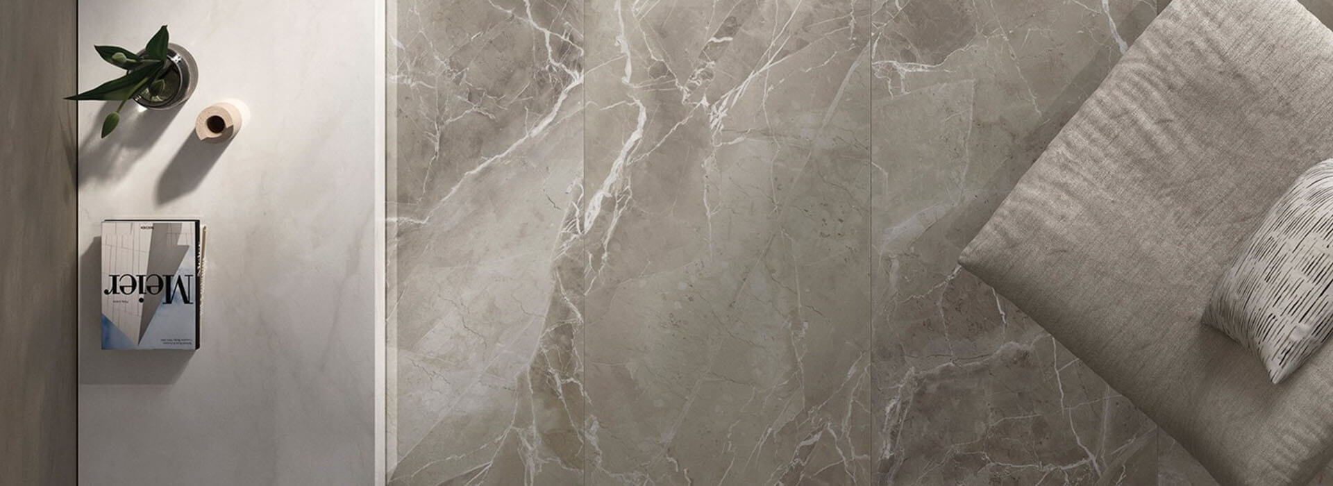 carrelage effet marbre gris