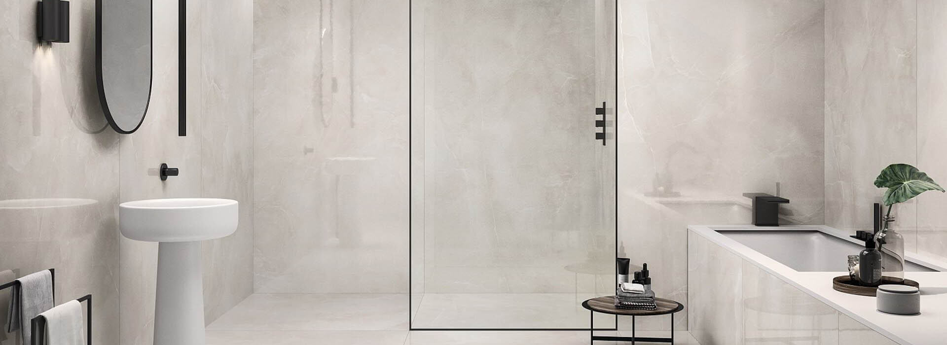 carrelage aspect marbre blanc