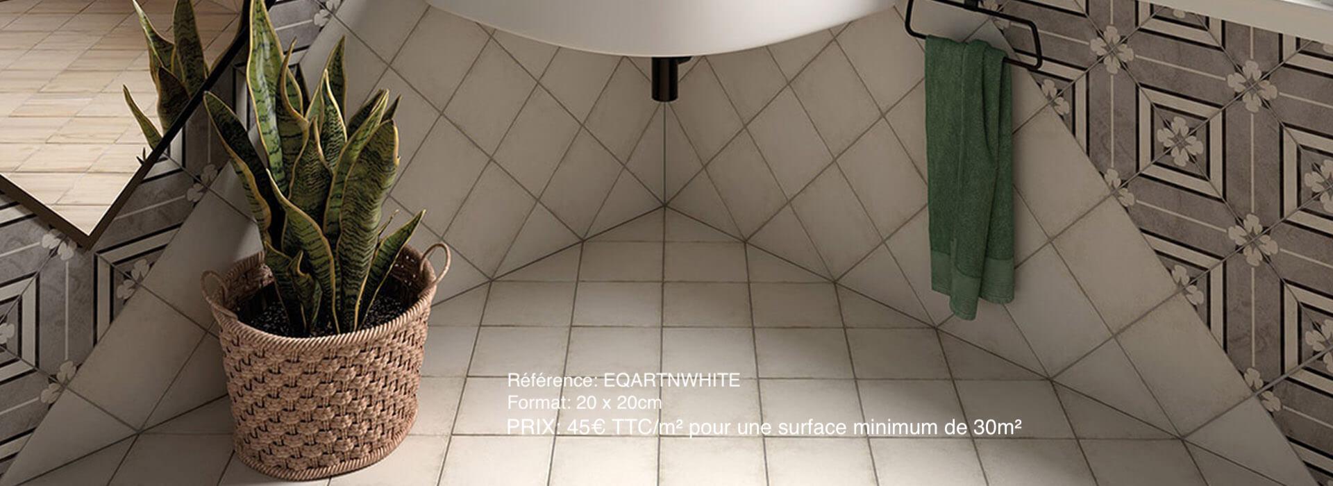 effet carreaux de ciment unis