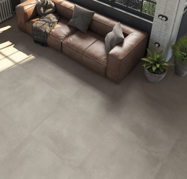 carrelage béton style industriel loft amenagement salon sejour renovation poussan