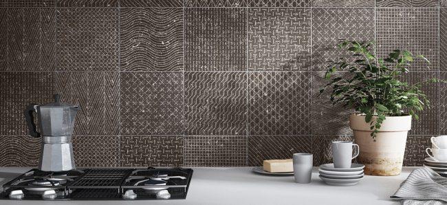 carrelage crédence cuisine effet granito terrazzo motifs rénovation appartement a lunel