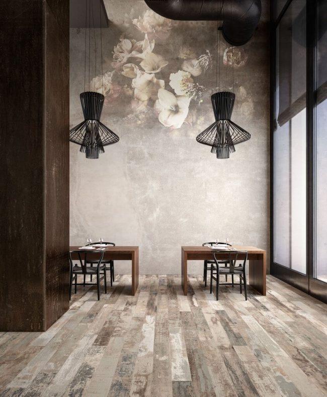 carrelage de la tour bois vieilli rénovation restaurant maison salon montpellier