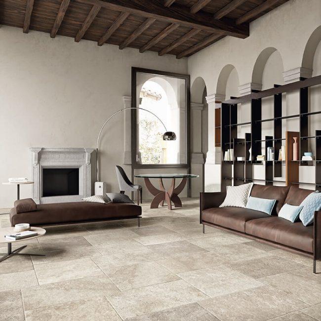 carrelage de la tour effet pierre traditionnelle sol mur salon sejour renovation carnon