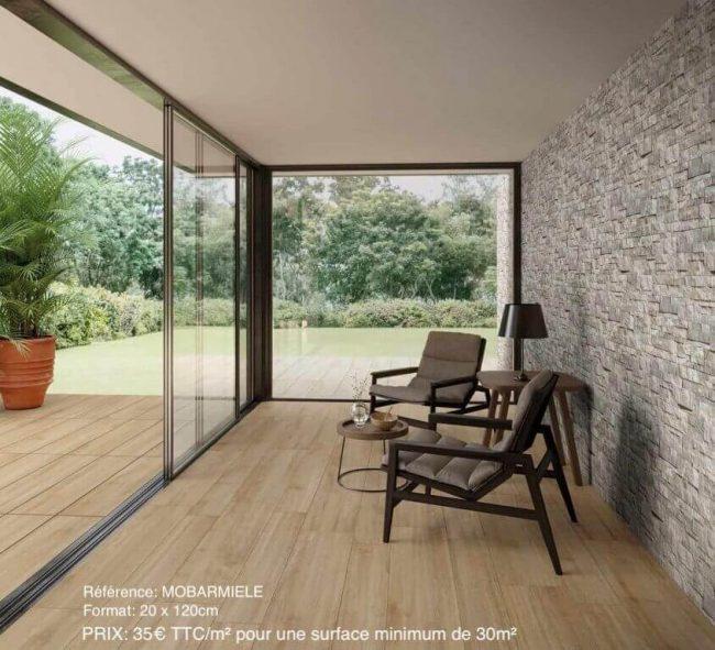carrelage de la tour parquet naturel terrasse intérieur extérieur bois construction vendargues