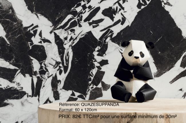 carrelage effet barbre moderne blanc noir graphique crédence mur cuisine salle de bain renovation mas valflaunes