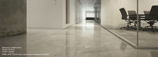 carrelage effet béton brillant beton ciré bureau coworking Montpellier