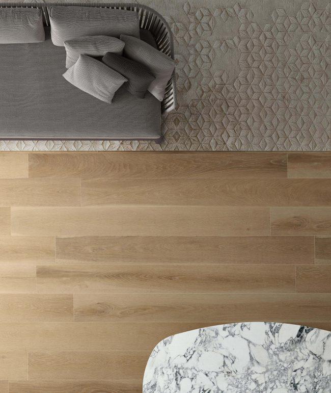 carrelage effet bois de chêne parquet salon séjour salle a manger rénovation construction montpellier