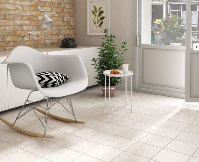 carrelage effet granito terrazzo uni aménagement decoration entree maison appartement Montpellier