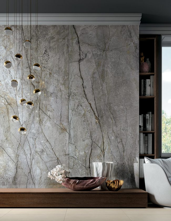 carrelage effet marbre gris grand format mur amenagement cuisine salle de bain decoration maison renovation Villeneuve les Maguelone
