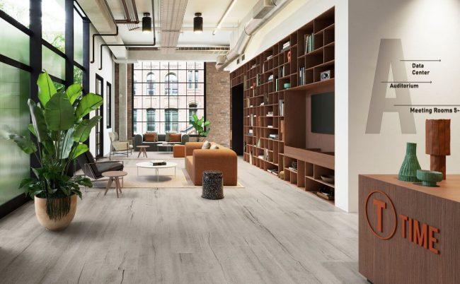 carrelage effet parquet bois industriel loft hall entrée saint jean de védas