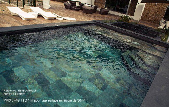 carrelage effet pierre de bali piscine terrasse clapiers construction