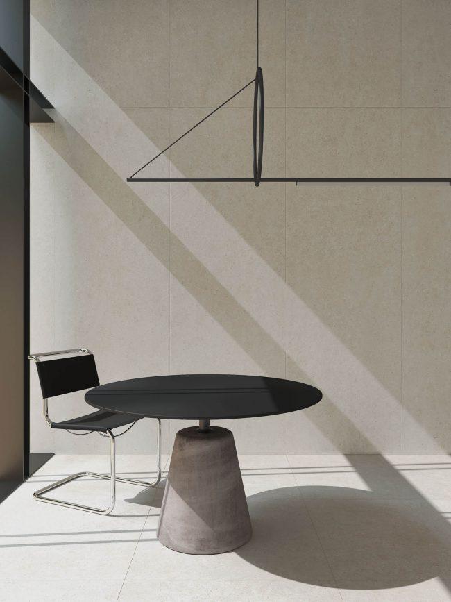 carrelage effet pierre moderne salle a manger renovation maison castries