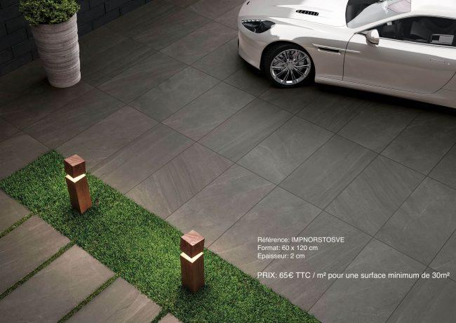 carrelage exterieur dalles sur plots grand format effet pierre construction fabregues