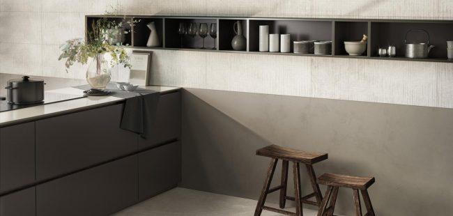 carrelage grand format cuisine crédence aménagement décoration appartement frontignan