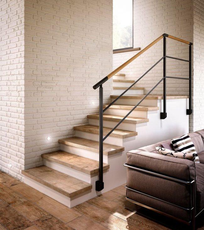 carrelage parquet bois loft industriel escaliers couloir maison rénovation le cres